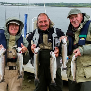 A group of anglers from England who had a very successful day. May 2012.
